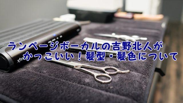 ランページボーカルの吉野北人がかっこいい!髪型・髪色について