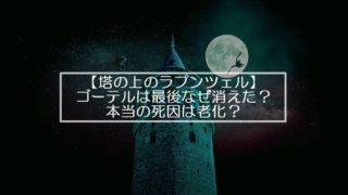 【塔の上のラプンツェル】ゴーテルは最後なぜ消えた?本当の死因は老化?